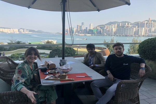 With Co founder of Lisk Blockchain Protocol