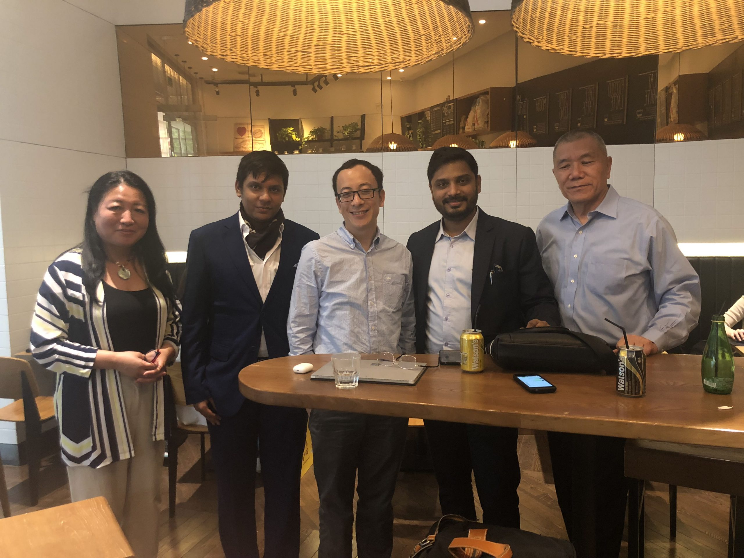 Prashant With Mr.Xiaochen Zhang Founder Fintech4Good global Blockchain Accelerator and  Ex Chairman IMF  scaled